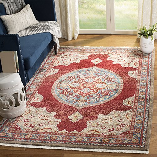 Safavieh Kashan Collection KSN302F Traditional Red and Blue Area Rug (8