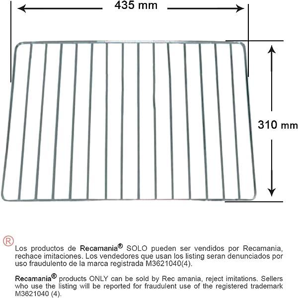 Parrilla para Horno TEKA 310x435 mm.: Amazon.es: Hogar