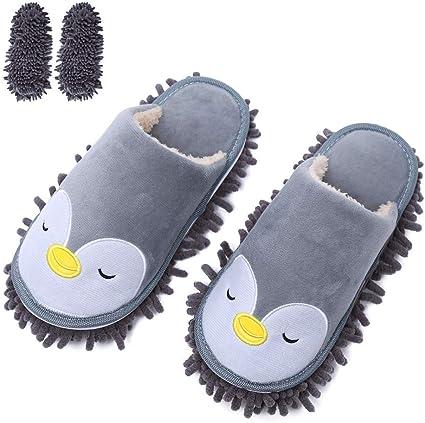 extra/íbles y Lavables para Limpiar el Polvo Juego de Zapatillas de Limpieza para el hogar Zapatillas multifunci/ón