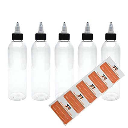 Torg Trading 5 x 250 ml Botellas de plástico Pet con tapa Off de Twist –