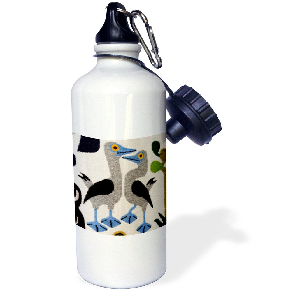 21 oz Multicolor wb/_187693/_1 3dRose Ecuador -Sports Water Bottle Wool Souvenir Rug with Galapagos Wildlife Quito Otavalo 21oz