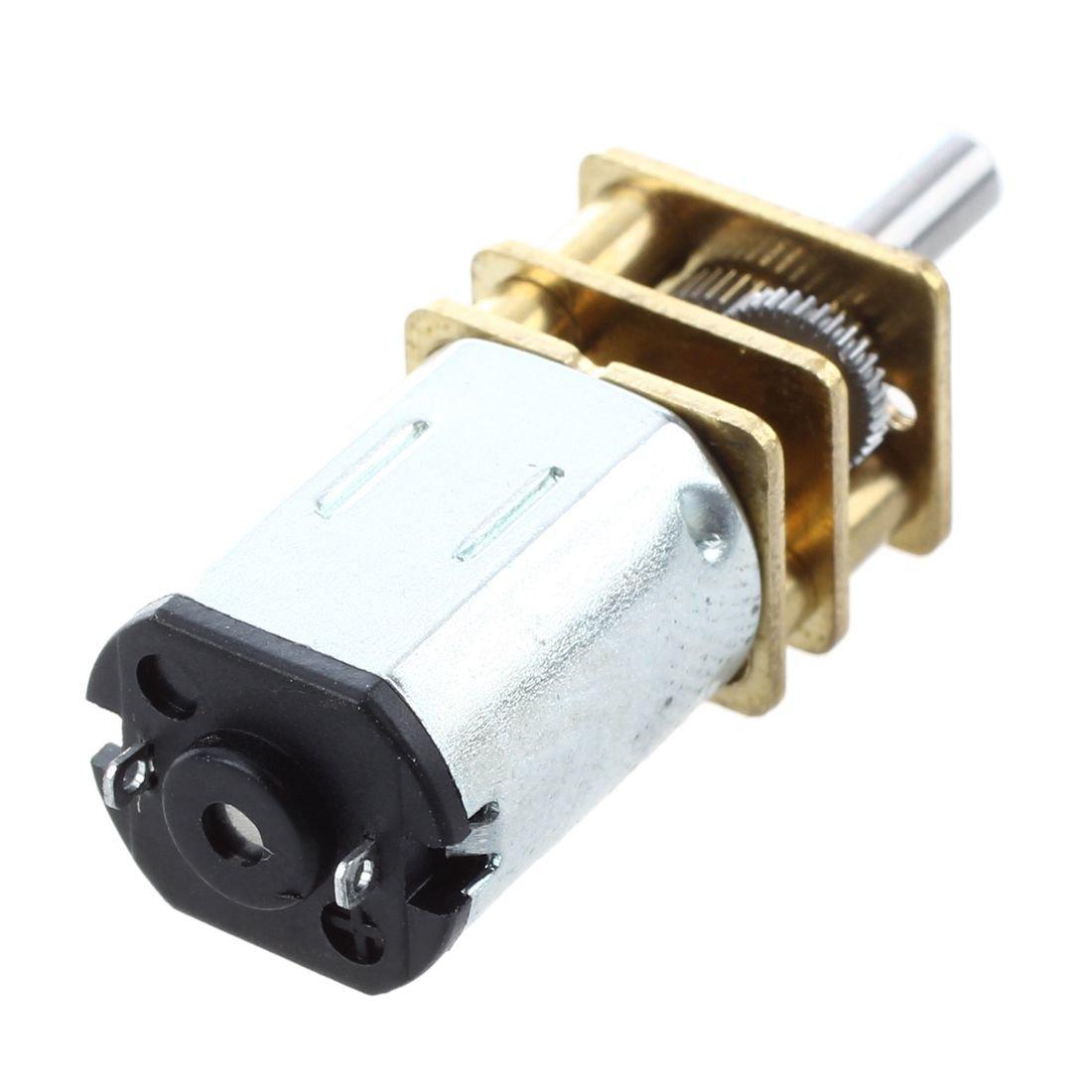 R Gold DC-Getriebemotor Minderer Geschwindigkeit Elektrisch M20 12V 0.06A 80RPM 5Kg.cm Silber Getriebemotor SODIAL