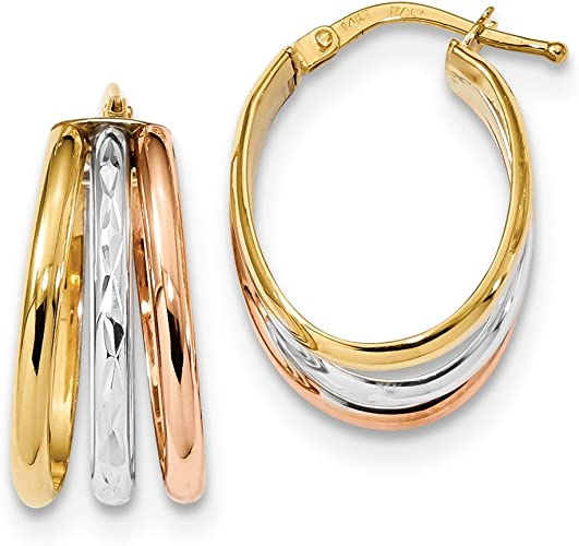 Best Birthday Gift 14k Polished Twisted Hollow Hoop Earring Jackets