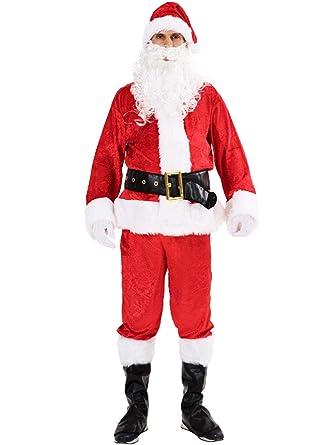 Amazon.com: Disfraz de Papá Noel de lujo de Yichenn, 6 ...