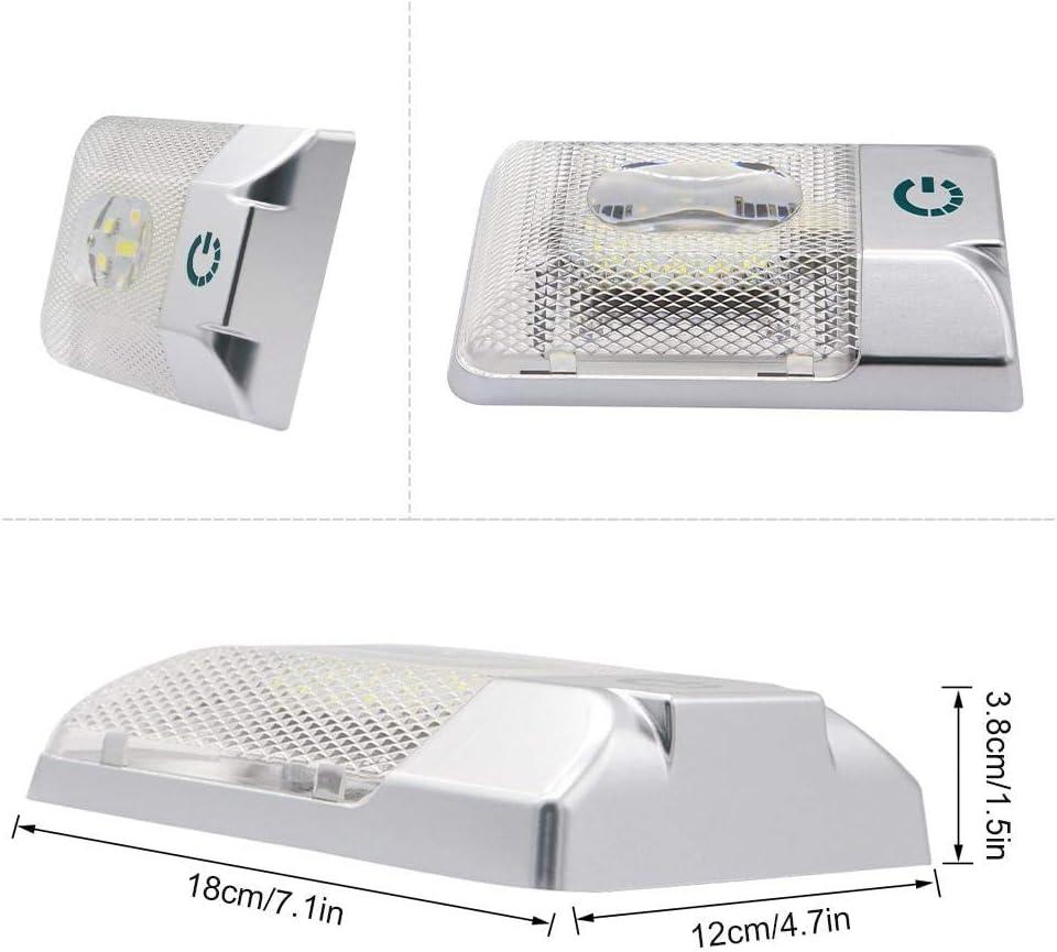 Hamkaw 12V Plafonnier Lampe LED /Éclairage Int/érieur pour Auto RV Camping-Car Bateau Lumi/ère Blanche Naturelle 6000-6500K