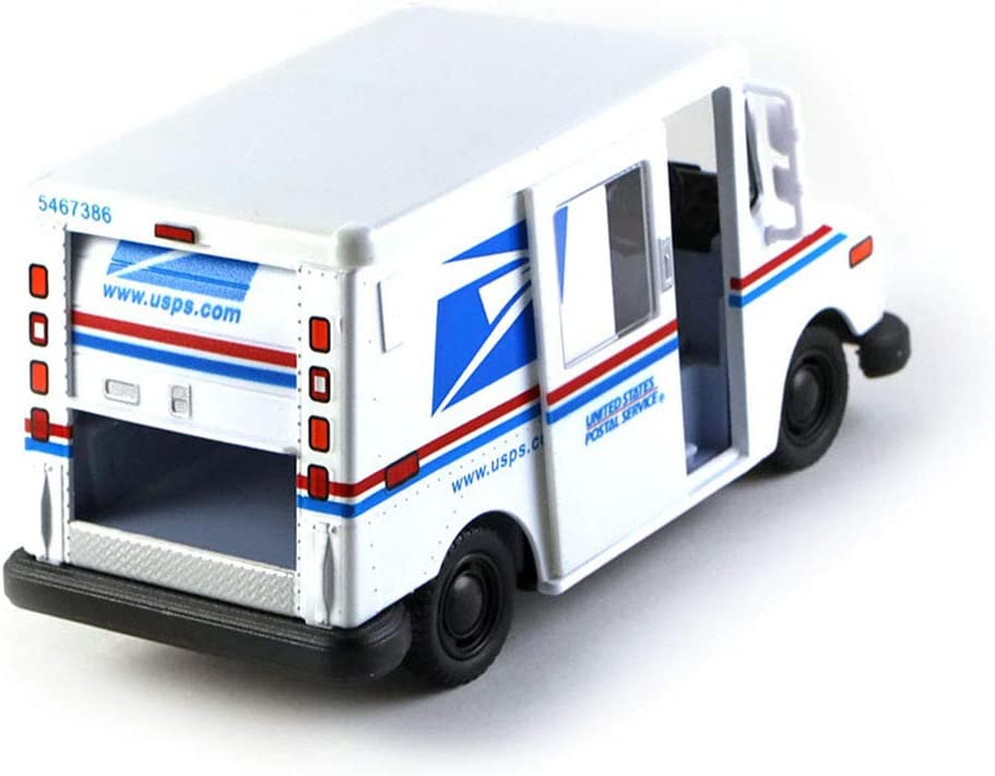 HCK Postal Service Mail Delivery Truck Diecast Model Toy Car in White