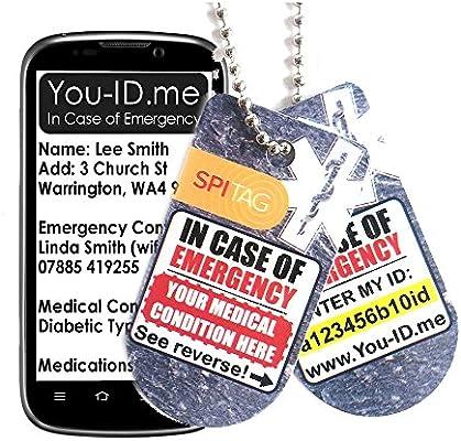 Epilepsy Collar de alerta médica con dos identificaciones de ...