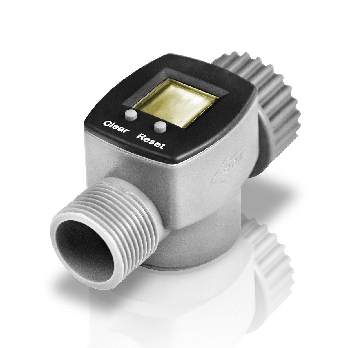 Bradas digitaler Wasserzähler, grau, 9 x 4 cm WL-3110