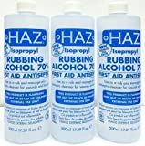 Haz 500 ml Isopropyl Rubbing Alcohol First Aid Antiseptic - Pack of 3