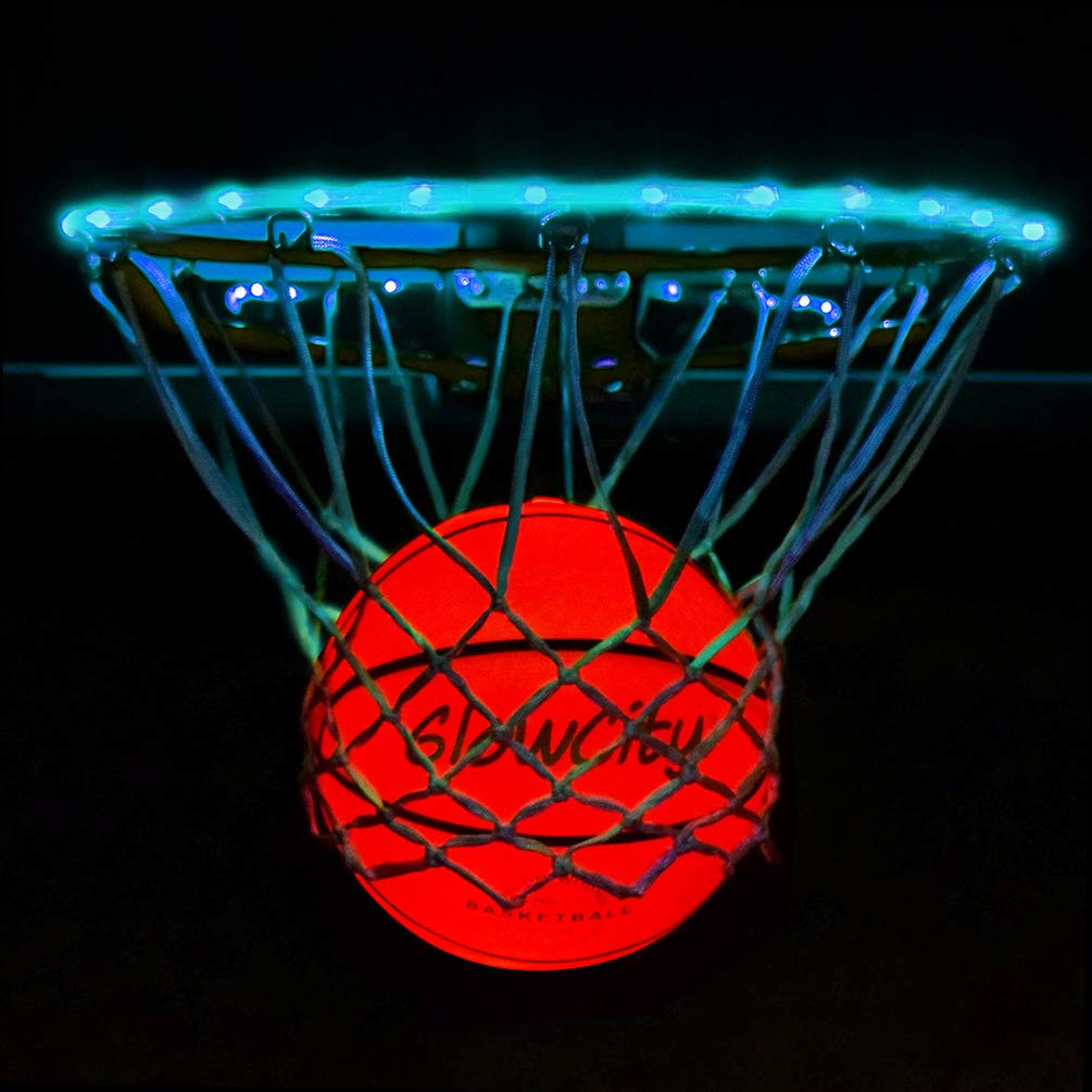 GlowCity Light Up LED Rim Kit with LED Basketball Included