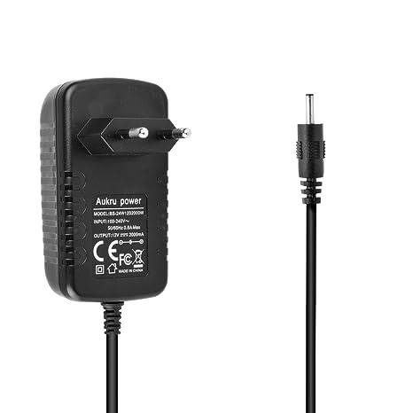 Aukru® Cargador Adaptador 12V 2A para Acer Iconia Tab A100, A101, A210, A211, A500, A501, W3-810 Tab, Packard Bell Libertad Tab G100