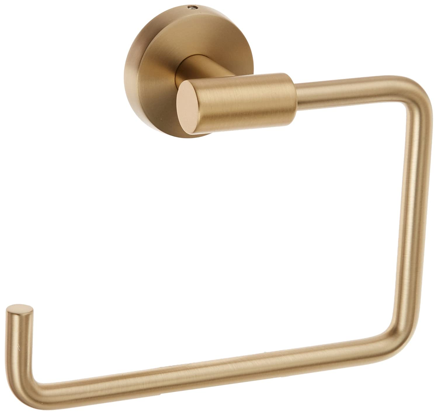 Amerock BH26541BBZ Arrondi 6-7/16in(164mm) LGTH Towel Ring - Brushed Bronze/Golden Champagne