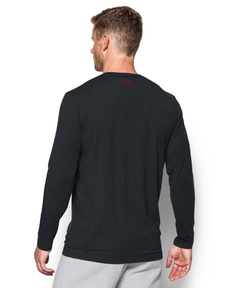 Under Armour Men's Sportstyle Long Sleeve T-Shirt, Black /Red, XXX-Large by Under Armour (Image #2)