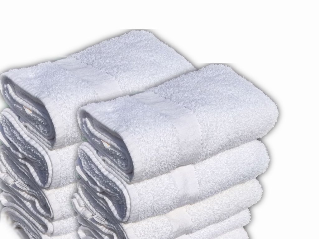 GOLD TEXTILES 6 Pack White Bath Towel (24''x 48'') 100% Cotton for Maximum Softness Easy Care-Home,spa,Resort,Hotels/Motels,Gym use (6)