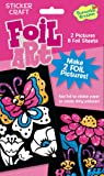 Peaceable Kingdom Sticker Crafts Butterfly and Ladybug Foil Art Kit for Kids