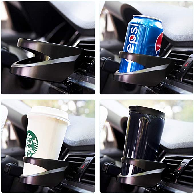 leanBonnie Auto Car Air Vent Outlet Water Bottle Holder Can Drinks Bracket Coffee Cup Mount Stand Holder Accessoires int/érieurs Argent