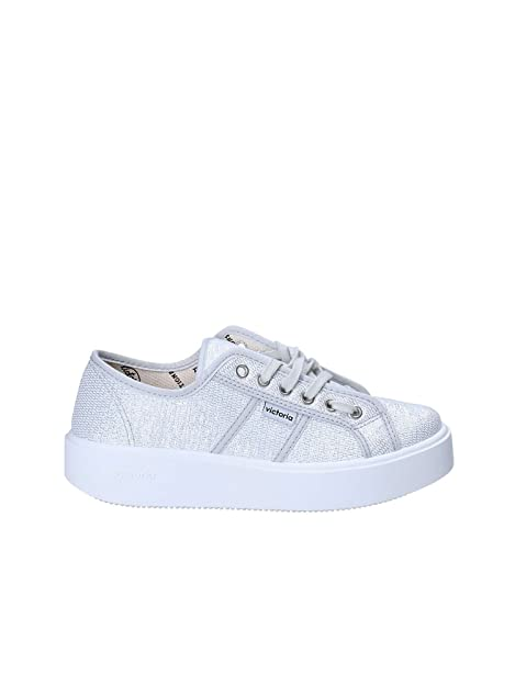 Zapatillas para niña, Color Plateado, Marca VICTORIA, Modelo Zapatillas para Niña VICTORIA 1260125 Plateado: Amazon.es: Zapatos y complementos
