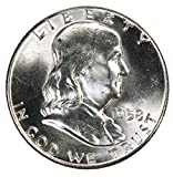 #5: 1958 P Silver Franklin Half Dollar 50c Brilliant Uncirculated