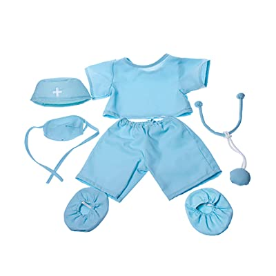 """Doctor """"Scrubs"""" Outfit Teddy Bear Clothes Fits Most 14"""" - 18"""" Build-A-Bear and Make Your Own Stuffed Animals : Toys & Games"""
