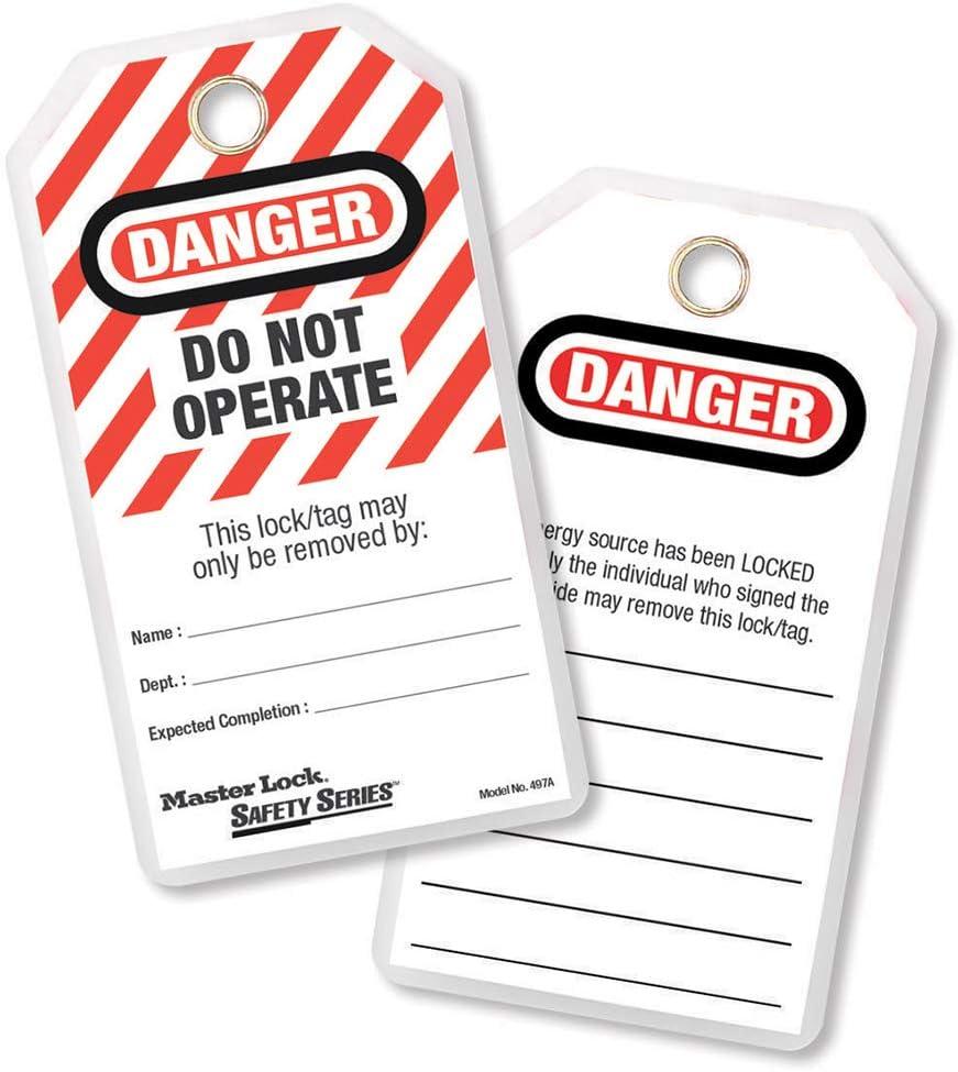 Do Not Operate 12 /Étiquettes en Anglais Master Lock /Étiquettes de Consignation