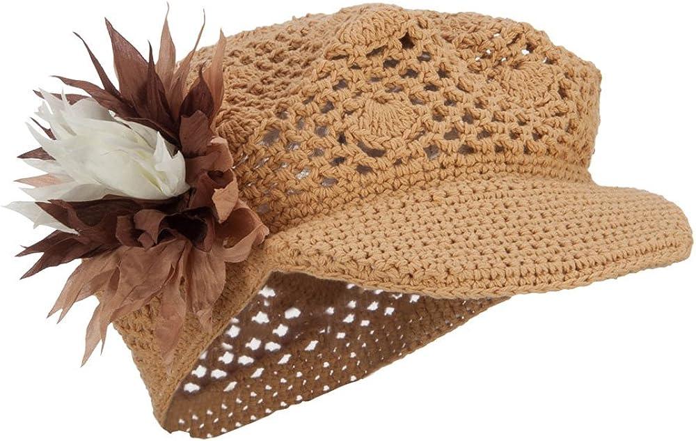 E4Hats.com Flower Crocheted...
