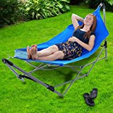 Pure Garden Portable Hammock with Stand-Folds and