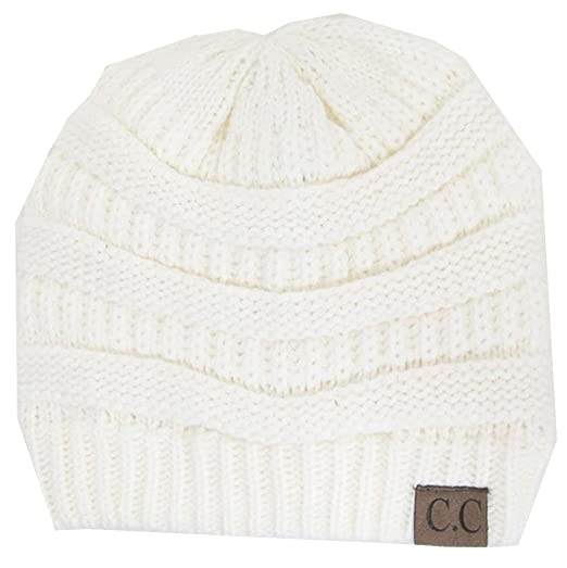 0b19a745f30d2 Amazon.com  Knit Cc Beanie in Ivory  Clothing