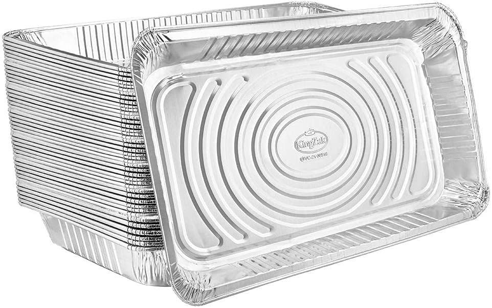 Aluminum Pans Full Size Disposable Deep Pans | For All Types of Prepping Food 20.75