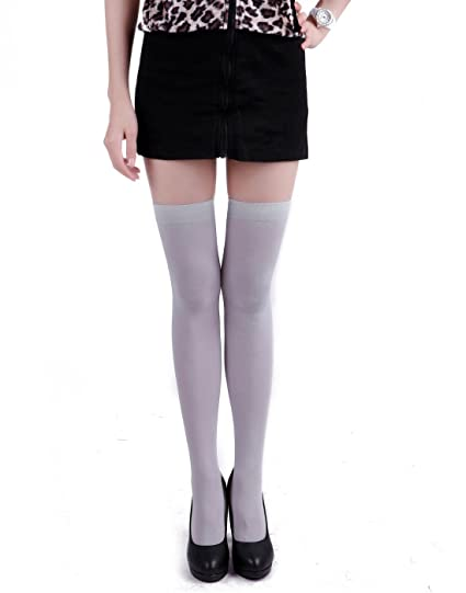b1df111bd7260 HDE Women's Stockings Over the Knee Opaque Tights Thigh High Nylon Socks at Amazon  Women's Clothing store: