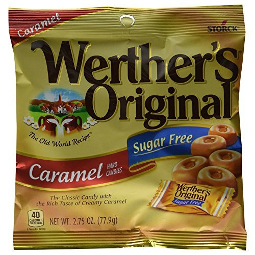 Werthers Original Sugar Free Caramel Hard Candies 12 pack Caramel Sugar Free Candy