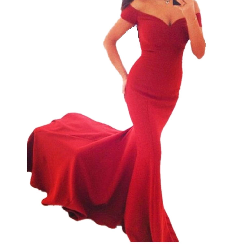 EMIN Damen Abendkleider Lang Elegant Sexy Kleider Party ...