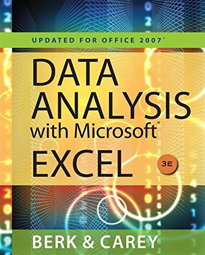 Data Analysis with Microsoft Excel: Updated for Office 2007 (with Web Site Printed Access Card)