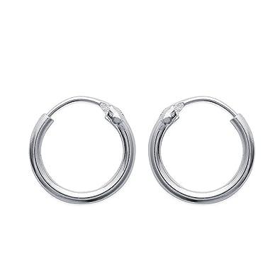 grande vente 7f2a6 37ff9 Boucles d'Oreilles Créoles en argent 925/000 Diametre 10 mm - Largeur 1,5 mm