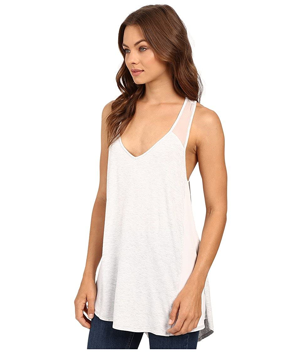 Heather Womens Silk and Jersey Overlap Back Tank Top
