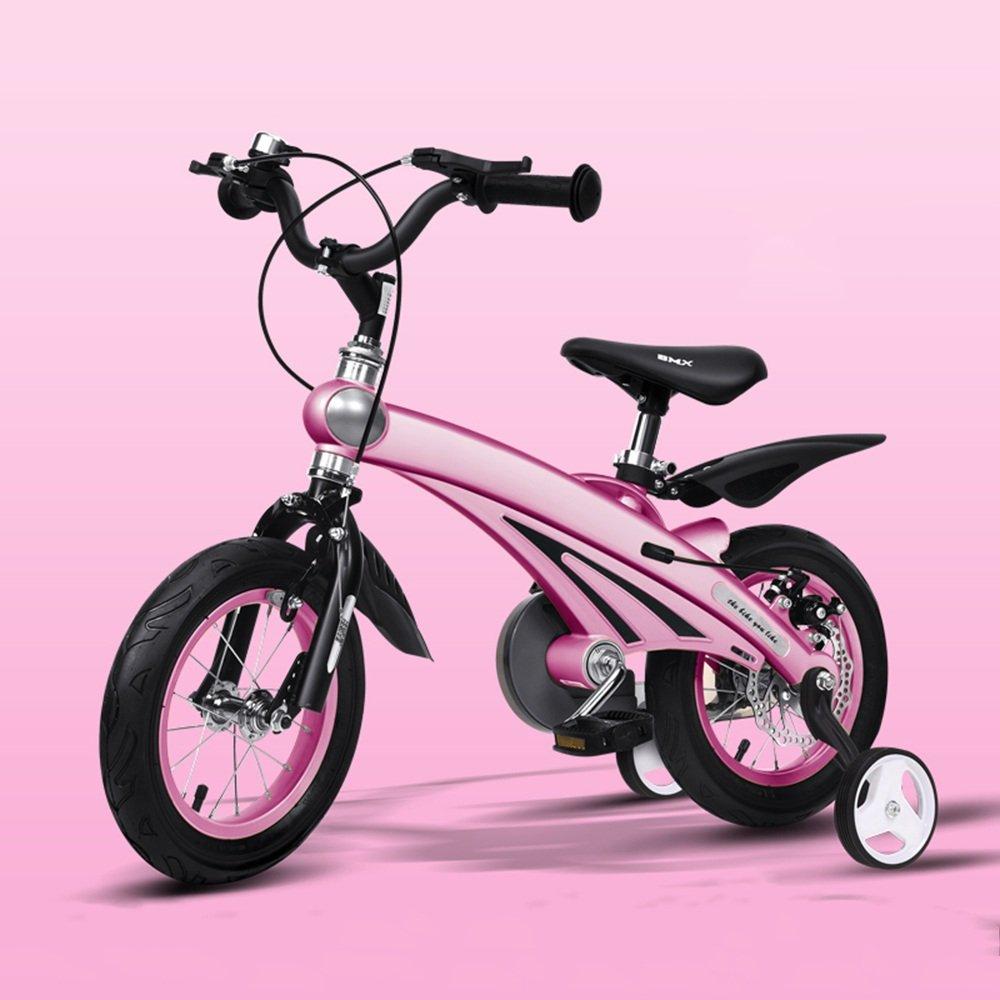 HAIZHEN マウンテンバイク 子供用自転車210歳のベビーカー12/14/16インチキッズバイク 新生児 B07C3SP1ZX 16 inch|ピンク ぴんく ピンク ぴんく 16 inch