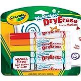 Crayola 6ct Dry Erase Broad Line Washable Markers