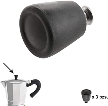 ORYX 5056222 Pomo Cafetera Aluminio Inducción 6/9 / 12 Tazas (3 ...