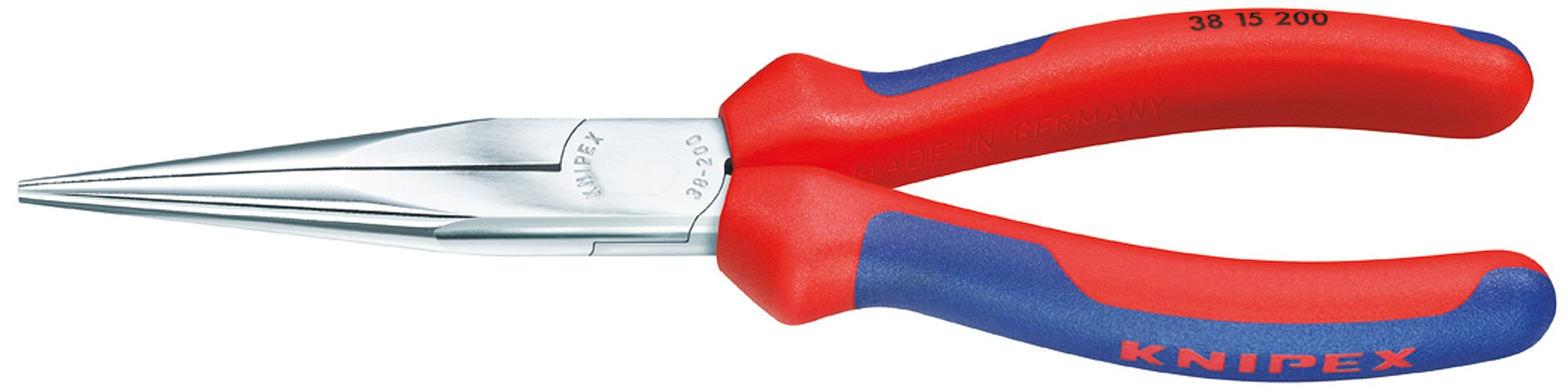 Knipex 3815200 8-Inch Long Nose Pliers without Cutter - Comfort Grip by KNIPEX Tools