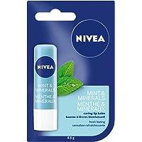 NIVEA Mint & Minerals Caring Lip Balm Stick, 4.8 g