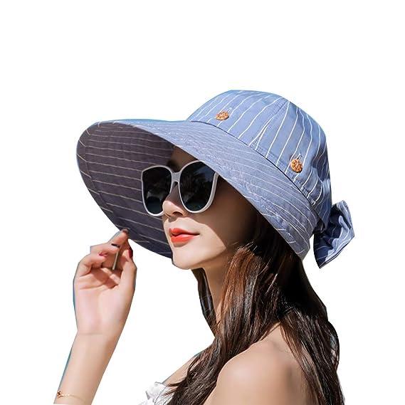 Damas protección UV Sombrero para el sol Gorra de playa ...