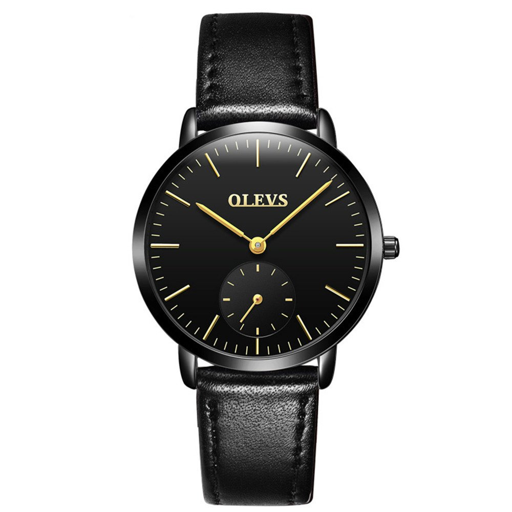 OLEVS Women's Luxury Date Calendar Wrist Watches Men Casual Business Waterproof Watch Simple Design Fashion Classic Analogue Quartz Watches for Men Women Dress Watches with Big Case