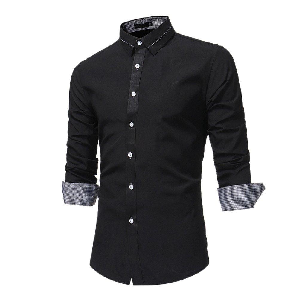 Men\'s Shirts, CieKen Men Fashion Slim Long Sleeve Casual Button Down Shirt Men' s Shirts
