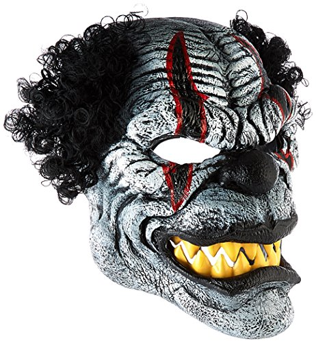California Costumes Men s Ani-Motion Masks - Last Laugh The Clown Ani-Motion Mask, Black/Red, One Size