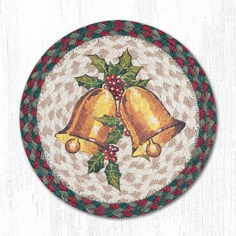 (MSPR-508 Holly Bell Printed Round Trivet 10