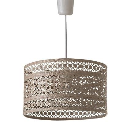 Lámpara de Techo provenzal Beige de Metal para la Entrada ...