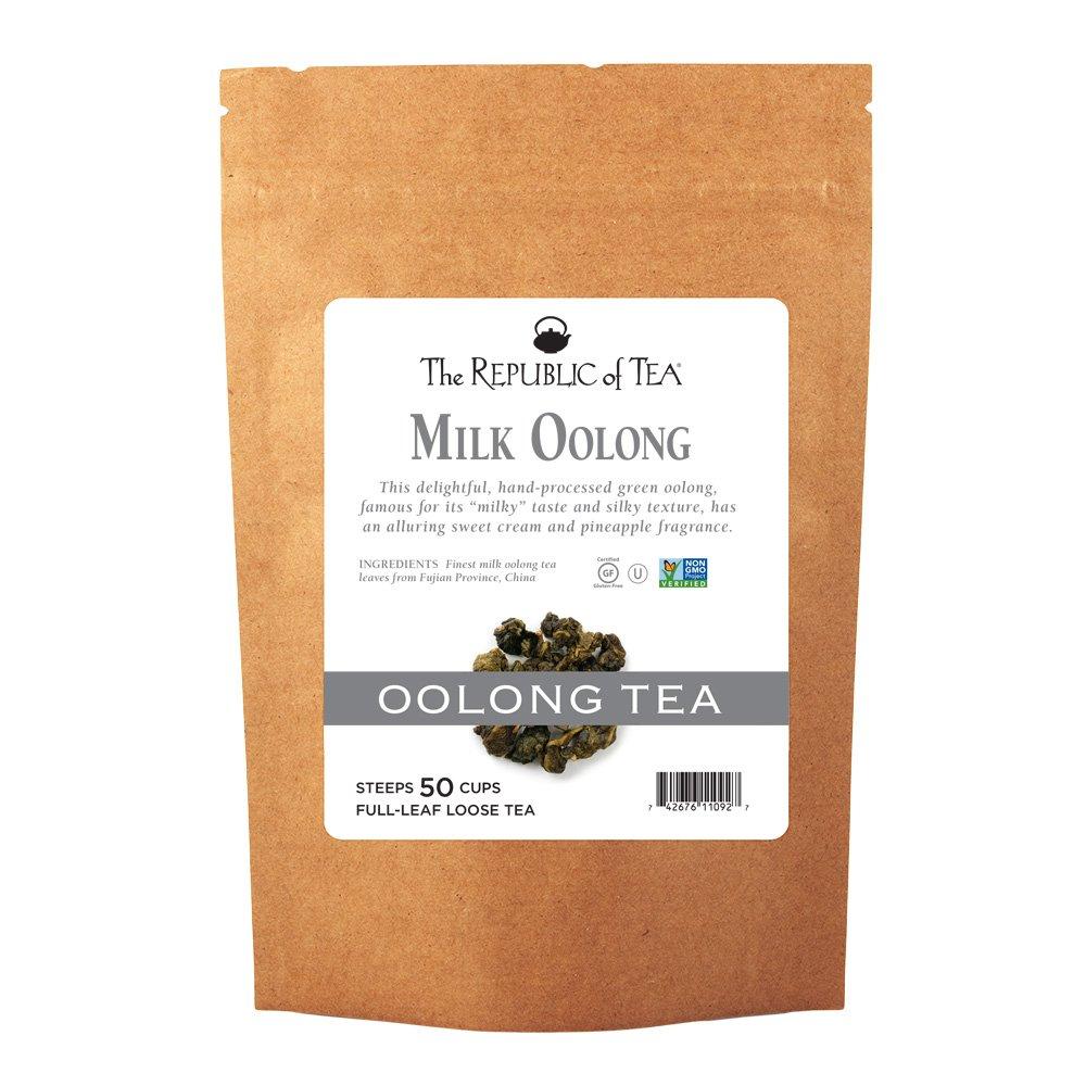 The Republic of Tea Milk Oolong Full-Leaf Tea, 3.5 Ounces / 50-60 Cups (Refill Bag)