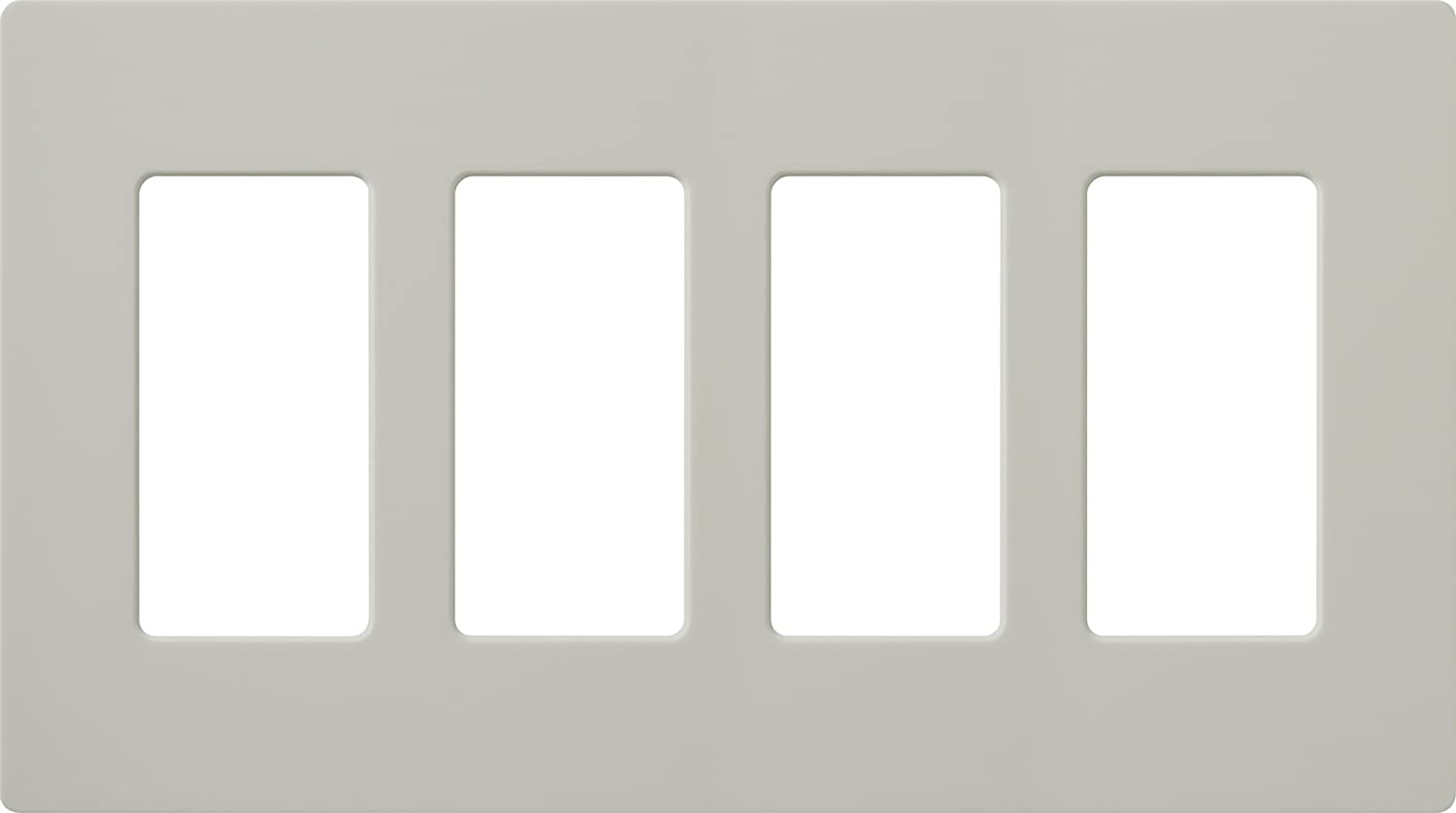 Lutron CW-4-IV-12 CLARO WALLPLATE 4 GNG 12PK Electrical Distribution Wall Plate 12 Pack Ivory