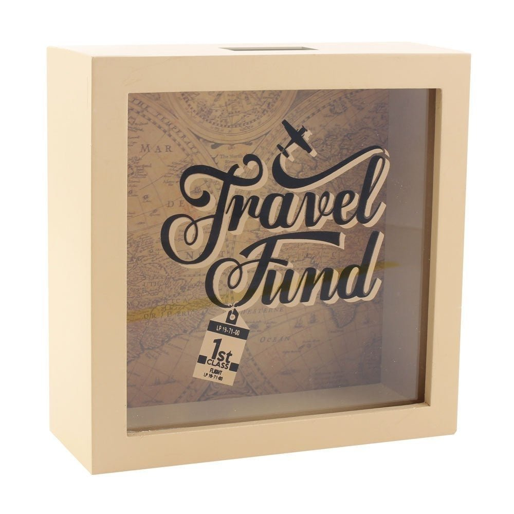 Caja para ahorros con marco – Travel Fund: Amazon.es: Hogar