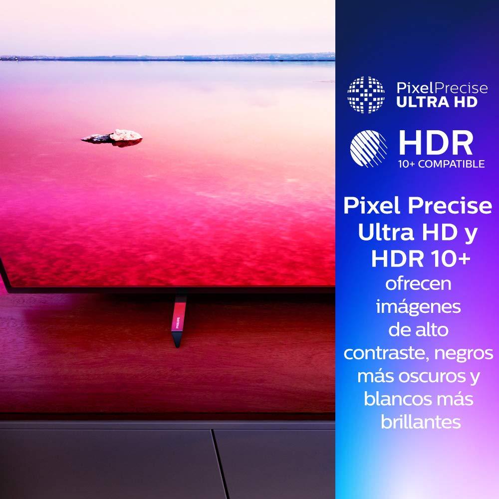 Resoluci/ón de pantalla 3840 x 2160 Relaci/ón de aspecto 16:9 Negro brillante 55 pulgadas Philips 55PUS6704//12 Smart TV LED 4K UHD