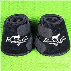 Black Medium Professional's Choice Quick Wrap Horse Bell Boot